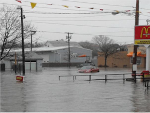 Stormwater runoff overflow