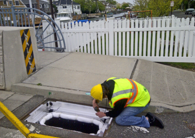 fabco industries stormsack geotextile bag stormwater filter system installation