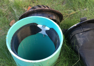 fabco industries beehive raingarden overflow filter expanding ring