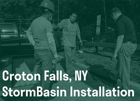 Croton Falls StormBasin Installation Thumbnail