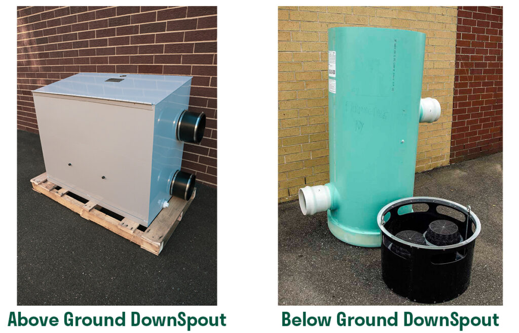 DownSpout Stormwater Filter System Configuration Comparison