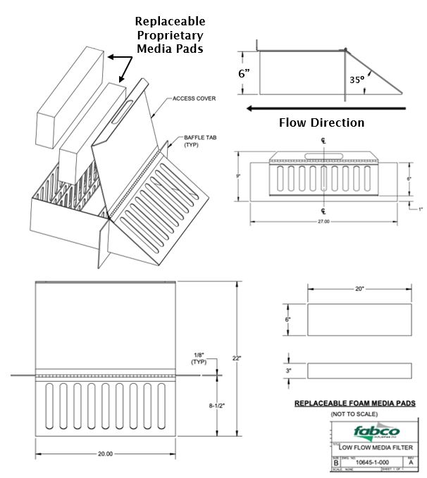 Flume ScreenBox Stormwater Filter System Diagram