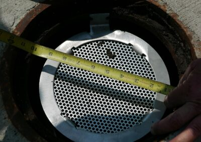 NYCDEP Fabco Industries Pipe Screen Inlet Stormwater Filter