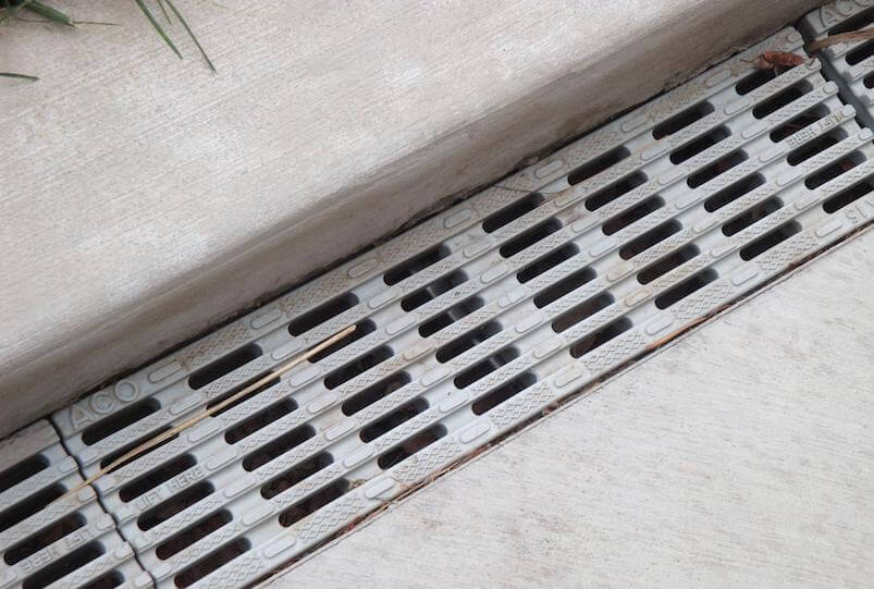 Trench drain stormwater