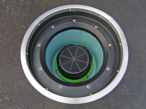 stormbasin cartridge filter insert top view