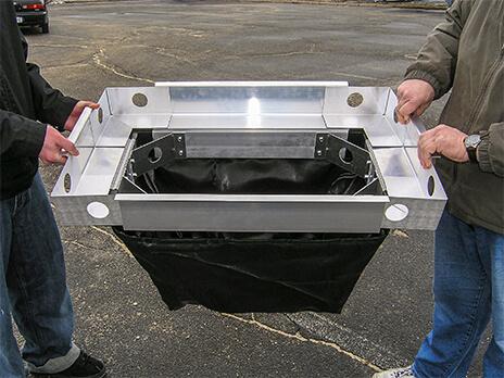 stormsack geotextile filter bag installation