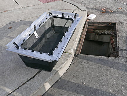 stormsack geotextile stormwater filter installation