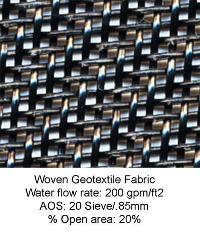 stormsack geotextile woven fabric closeup