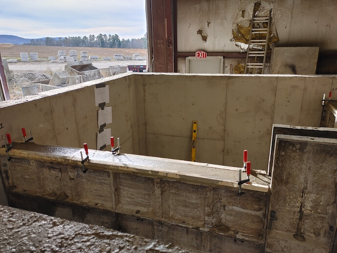 Cement stormwater valt in production