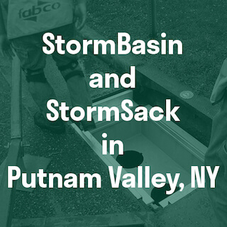 Curb inlet stormwater filters in NY