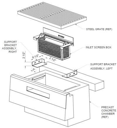 Diagram curb inlet filter nyc