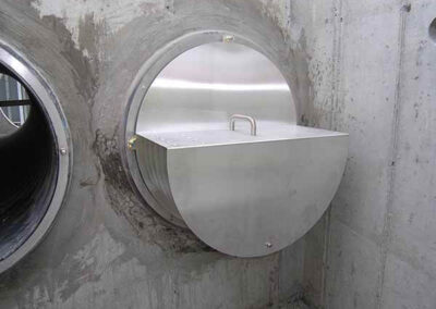 covered helix stormwater filter system after installation