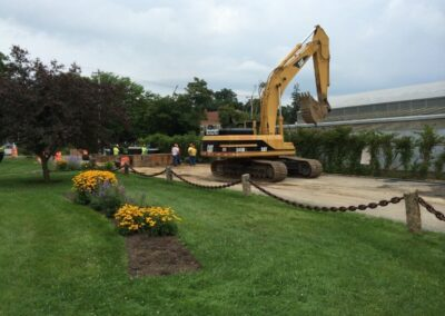 excavator to clear stormsafe cartridge vault installation space