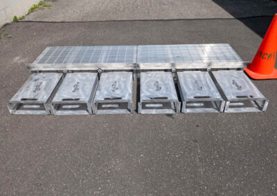 fabco industries flume screenbox trash and debris capture device filter out line up