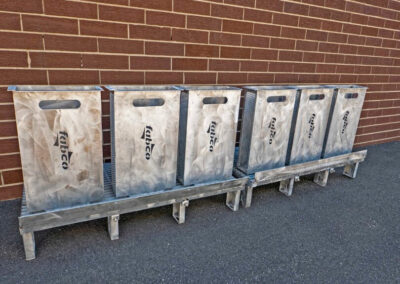 fabco industries flume screenbox trash and debris capture device filter out standing full view