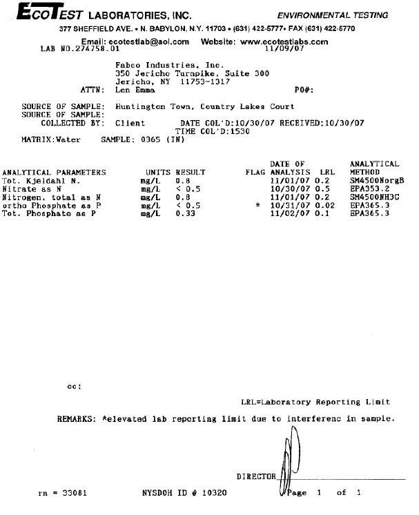 fabco industries phabphos phosphorous treatment field test results 2