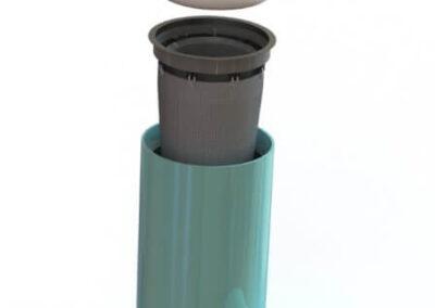 fabco industries rain garden overflow stormwater filter render