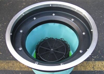 fabco industries round stormbasin cartridge based stormwater filter system
