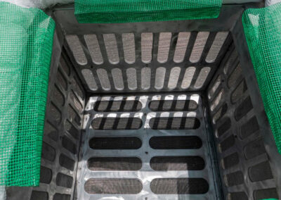 fabco industries screenbox grate inlet skimmer trash and debris capture device interior