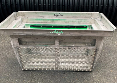 fabco industries screenbox grate inlet skimmer trash and debris capture device rectangular configuration fully assembled