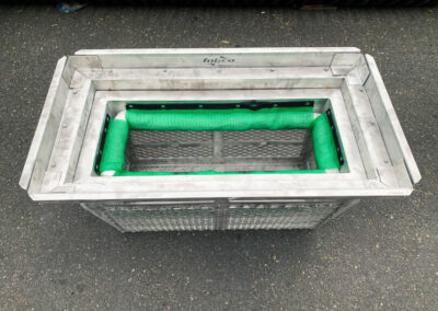 fabco industries screenbox grate inlet skimmer trash and debris capture device rectangular configuration top down view 2
