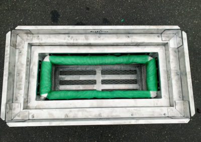 fabco industries screenbox grate inlet skimmer trash and debris capture device rectangular configuration top down view
