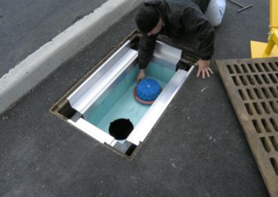fabco industries stormbasin cartridge based stormwater filter system plastic basin cartridge installation