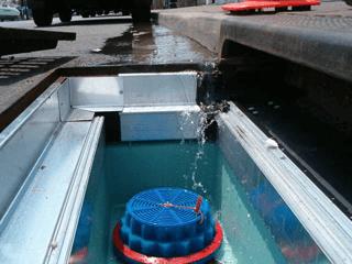 fabco industries stormbasin cartridge based stormwater filter water flow