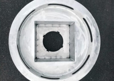fabco industries stormbasin stormwater metal round configuration top down view