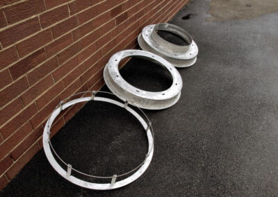 fabco industries stormsack bmp geotextile stormwater filter bag frame types top down view