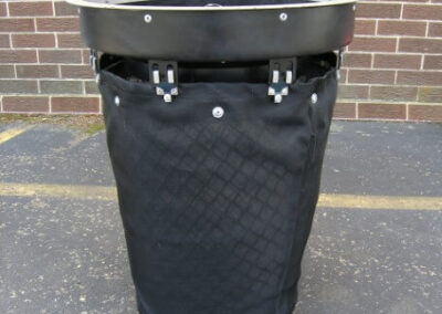 fabco industries stormsack bmp geotextile stormwater filter bag round configuration frame attached