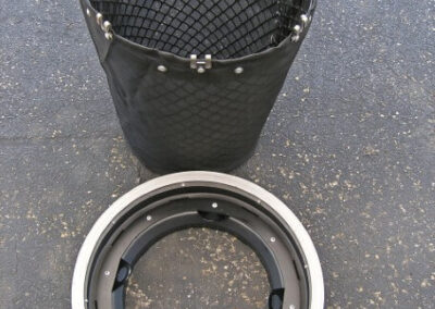 fabco industries stormsack bmp geotextile stormwater filter bag round configuration frame unattached