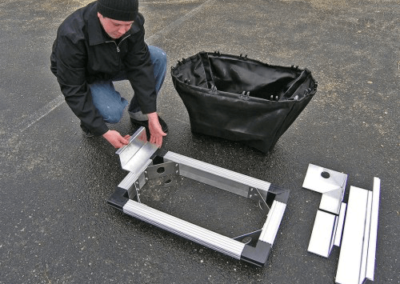 fabco industries stormsack plus geotextile stormwater filter system adjustable flange assembly