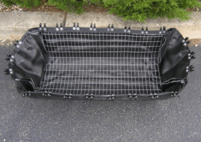 fabco industries stormsack plus geotextile stormwater filter system bag close up