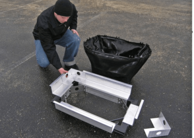 fabco industries stormsack plus geotextile stormwater filter system frame assembly