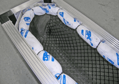 fabco industries stormsack plus geotextile stormwater filter system with oil boom