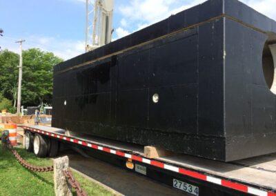 fabco industries stormsafe cartridge vault on truck