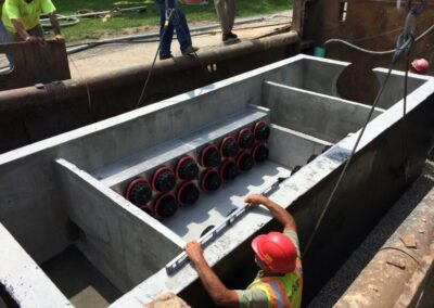 fabco industries stormsafe cartridge vault stormwater filter system 32 cartridge configuration installation 2