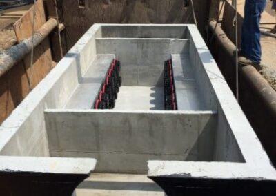 fabco industries stormsafe cartridge vault stormwater filter system 32 cartridge configuration installation 3