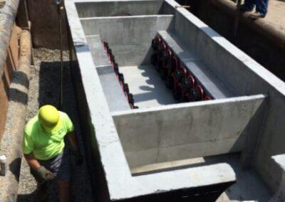 fabco industries stormsafe cartridge vault stormwater filter system 32 cartridge configuration installation