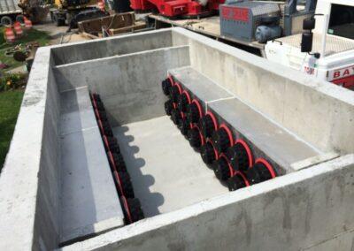 fabco industries stormsafe cartridge vault stormwater filter system 32 cartridge configuration installation prep 2