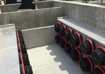 fabco industries stormsafe cartridge vault stormwater filter system 32 cartridge configuration installation prep 4