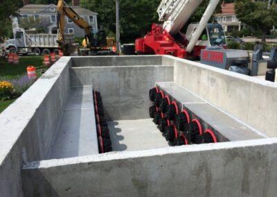 fabco industries stormsafe cartridge vault stormwater filter system 32 cartridge configuration installation prep
