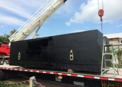 fabco industries stormsafe cartridge vault stormwater filter system 32 cartridge configuration on truck being delivered 3