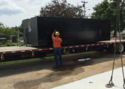 fabco industries stormsafe cartridge vault stormwater filter system 32 cartridge configuration on truck being delivered 4
