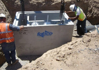 fabco industries stormsafe cartridge vault stormwater filter system installation open top 2
