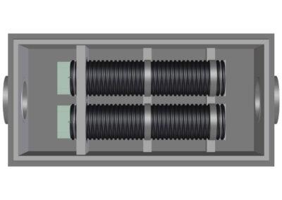 fabco industries stormsafe helix filter vault dual configuration render 3