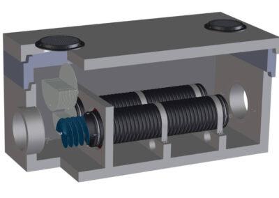 fabco industries stormsafe helix filter vault dual configuration render