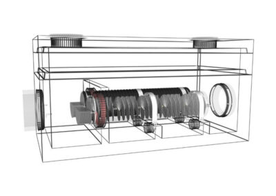 fabco industries stormsafe helix filter vault dual configuration render wireframe