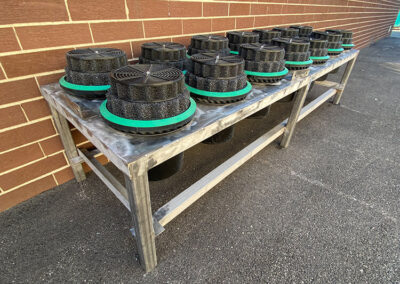 fabco industries stormwater filter cartridge table left view